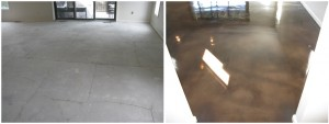 Acid Stained Condo Floor