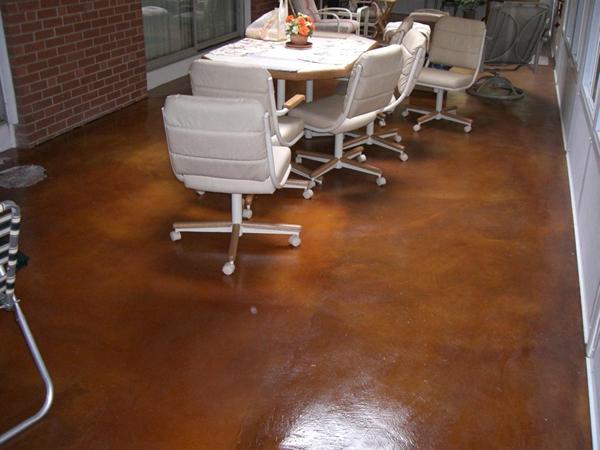 Sunroom Floor Acid Stain Diamond Kote Decorative
