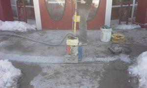 Heaved Concrete walkway