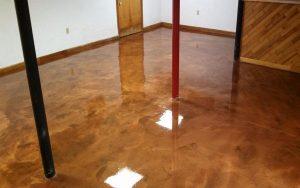 Basement Metallic Floor Copper