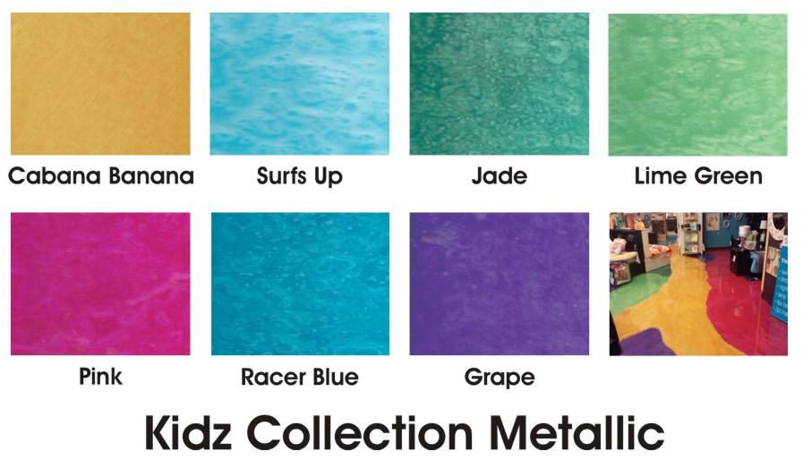 Kidz Collection Metallic Color Chart