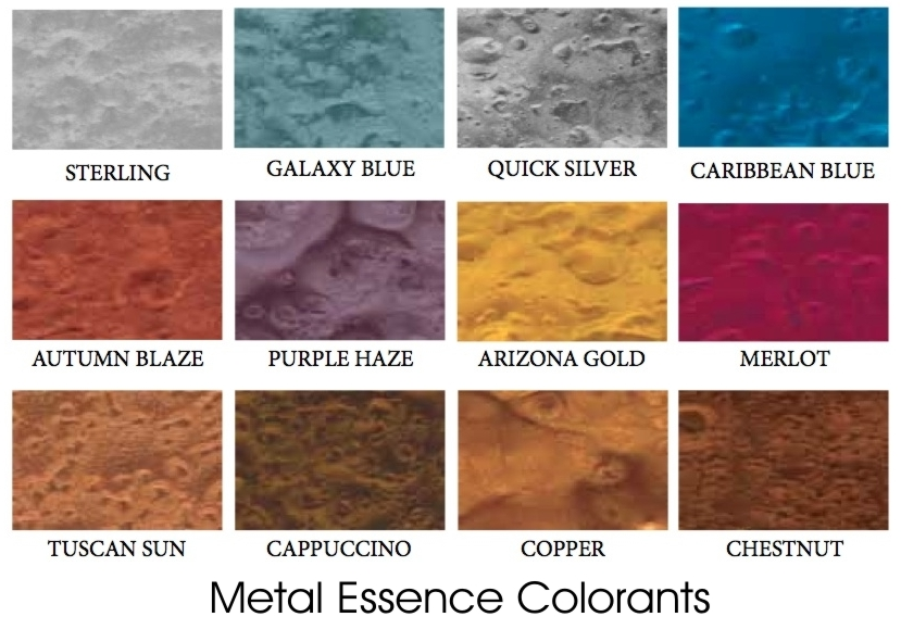 Metal Essence Color Chart