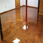 Metallic Basement Floor- Copper