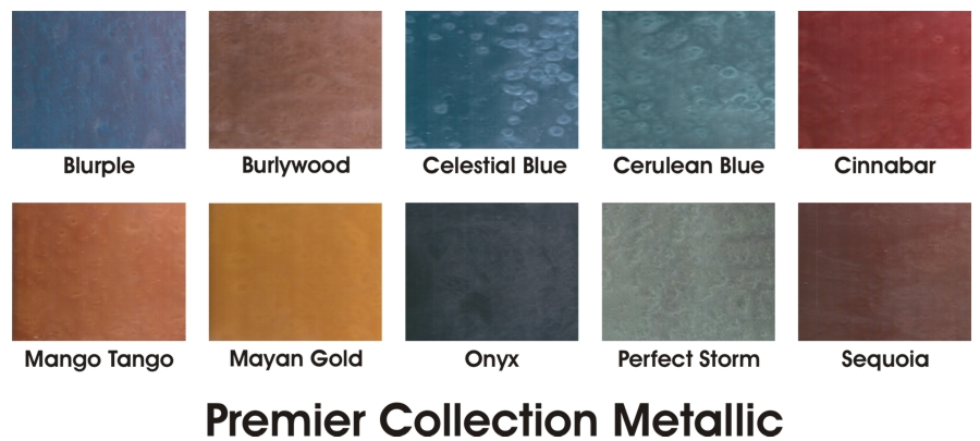 Premier Collection Metallic Color Chart