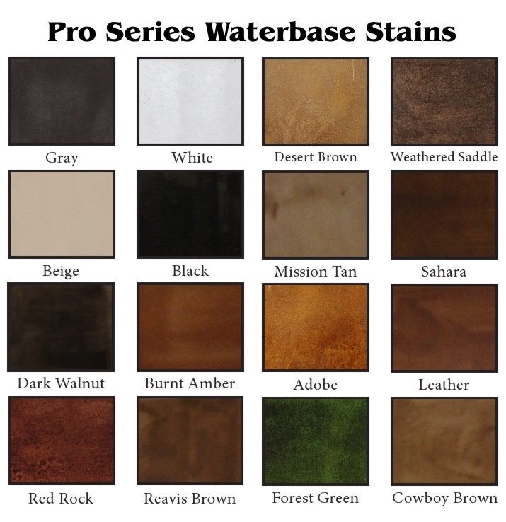 Pro Series Waterbase Stains
