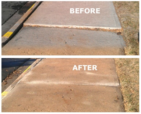 Slab Raising Before & After