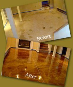 Acid Stain Brown Tile