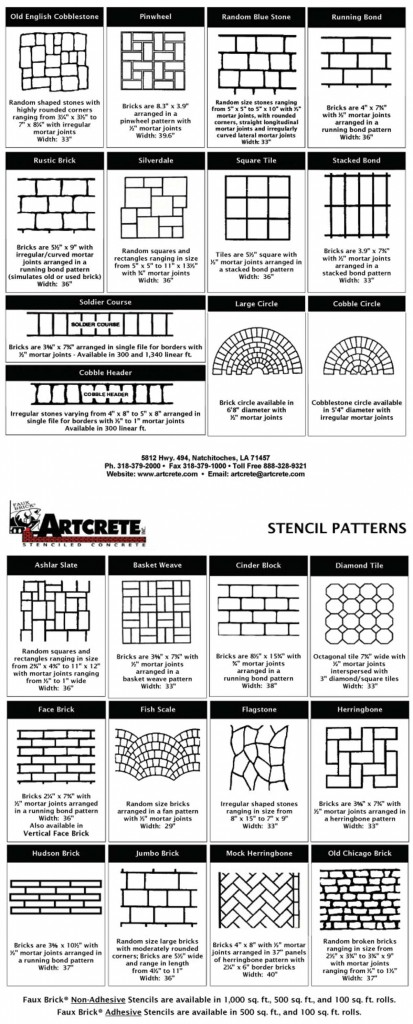 Artcrete Stencil Patterns