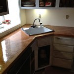 Kitchen Copper Metallic Marble Countertop After