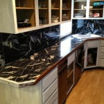 Kitchen Copper Metallic Marble Countertop Before