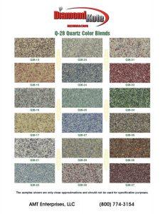 DK Quartz Color Chart