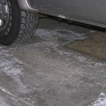 Garage Floor Efflorescence