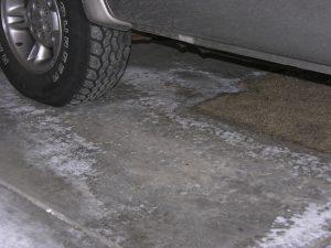 Garage Floor Efflorescence