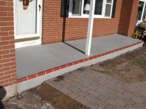 Red Brick Row- Porch