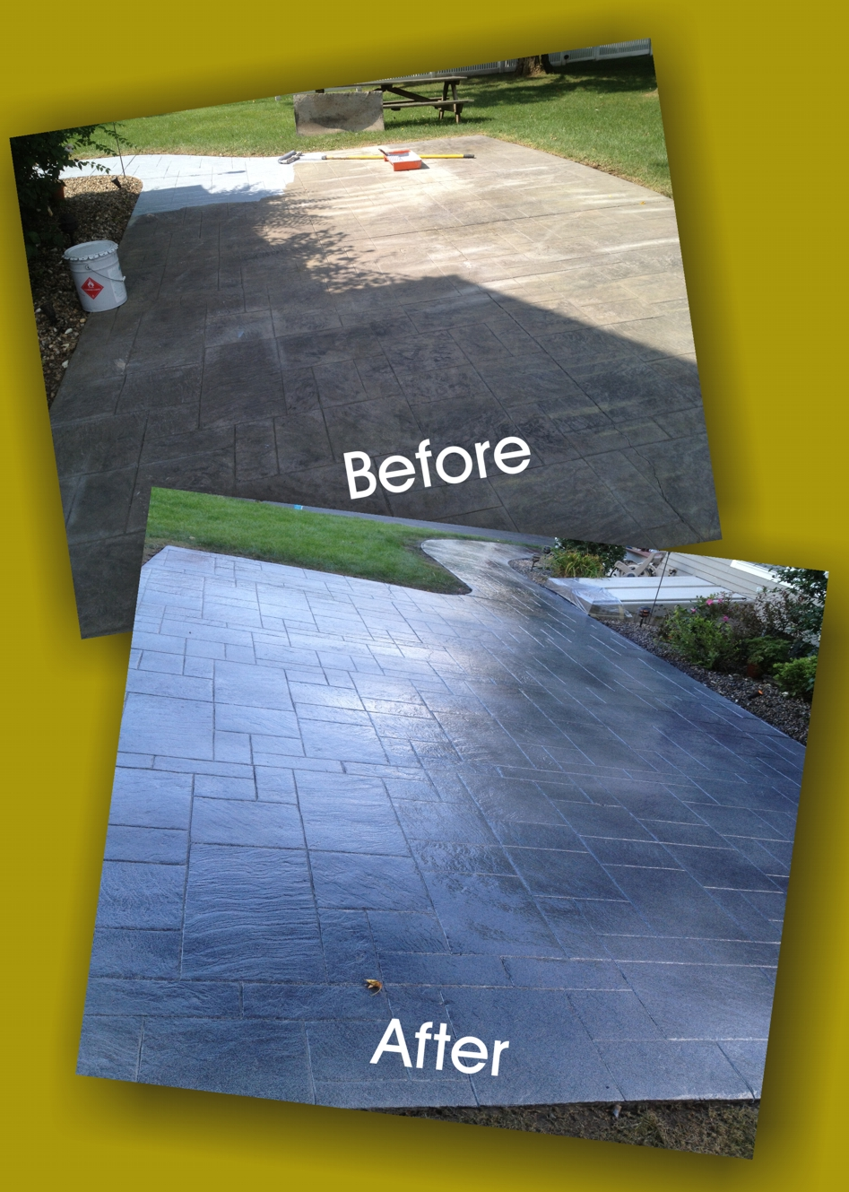Stamped Concrete Color Restoration