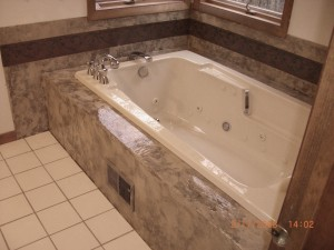 Tub After Cement Texture