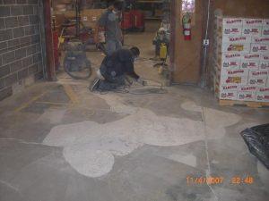 Warehouse floor scaling