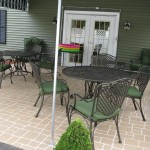 Commercial Patio Cobblestone Spray Stencil