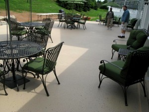 Commercial Patio Rubber Coating