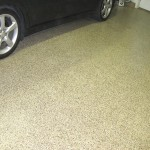 Epoxy Vinyl Chip Garage Floor -Saddle Tan
