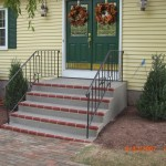 Spray Gray Stairs Red Brick
