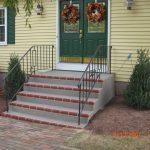 Spray Gray Stairs Red Brick
