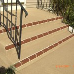 Spray Tan Stairs Red Brick Row