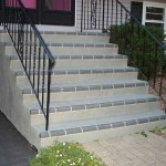 Spray Stencil Gray Brick Steps