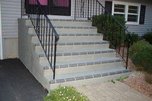 Spray Stencil Gray Brick Steps