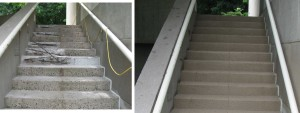Wesleyan Stairs Before and After