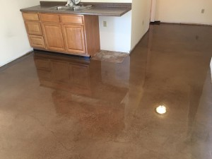 Brown water based stain