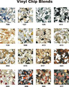 DK Vinyl Chip Color Chart