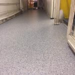kennel-floor-epoxy-vinyl-chip floor-stonewash color
