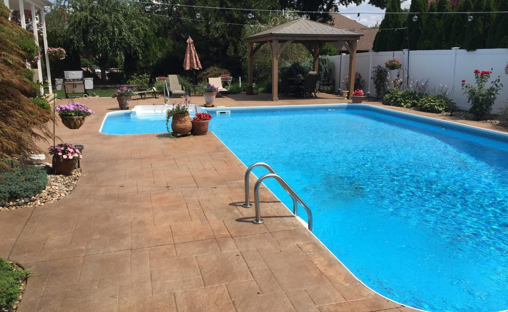 Pool Deck Color Restoration in Wethersfield, CT