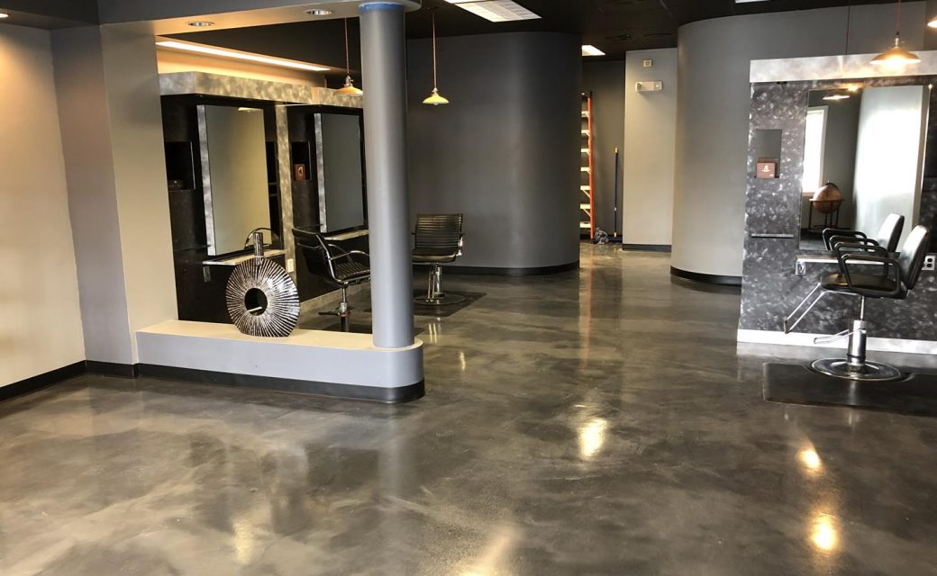 Metallic Epoxy Floor for a CT Salon