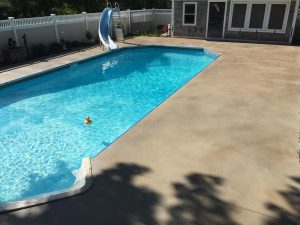 Stained Pool Deck