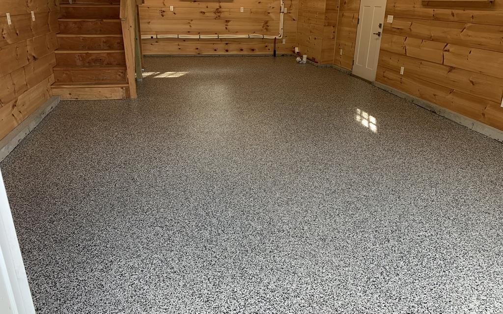 Epoxy Garage Floor with Moisture Barrier