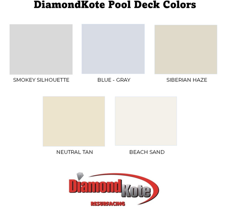 pool deck color chart
